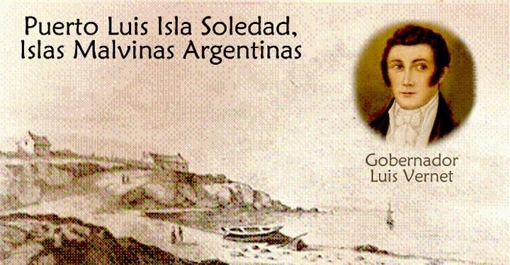 El asentamiento de Puerto Luis, construido por Luis Vernet como un aspecto importante de Argentina