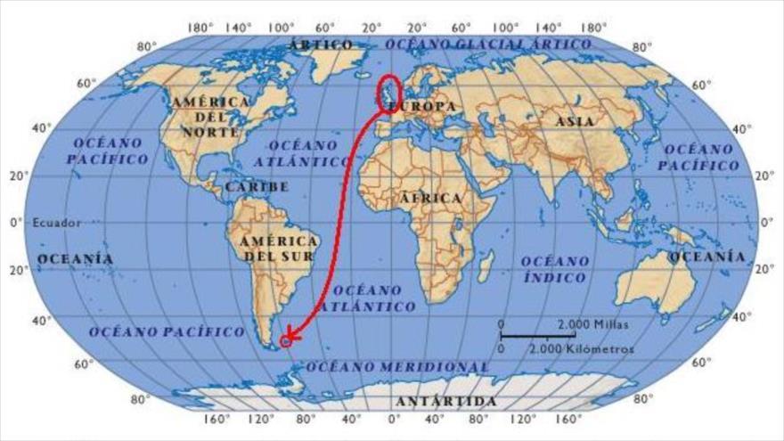 ubicación de las islas malvinas