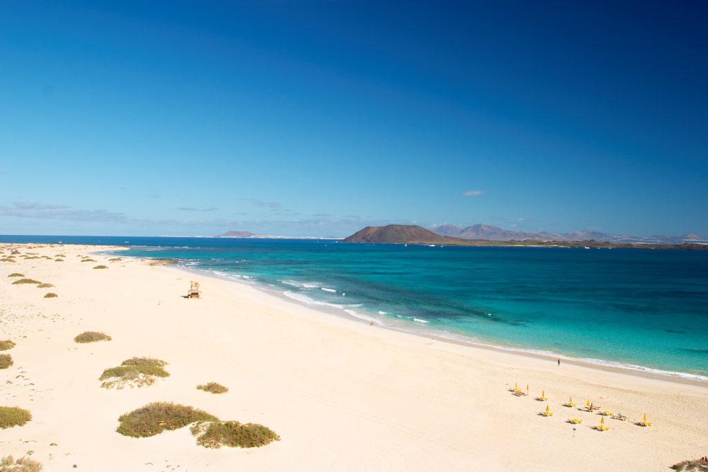 Playas de Corralejo en fuerteventura
