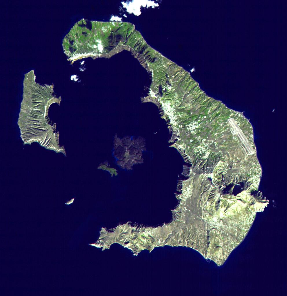 ubicacion geografía de la isla santorini
