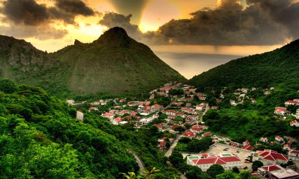 lugares turísticos de la isla de saba