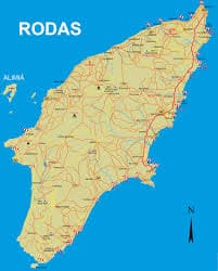 Isla De Rodas Mapa.Rodas Historia Mapa Lugares Turisticos Playas Y Mucho Mas