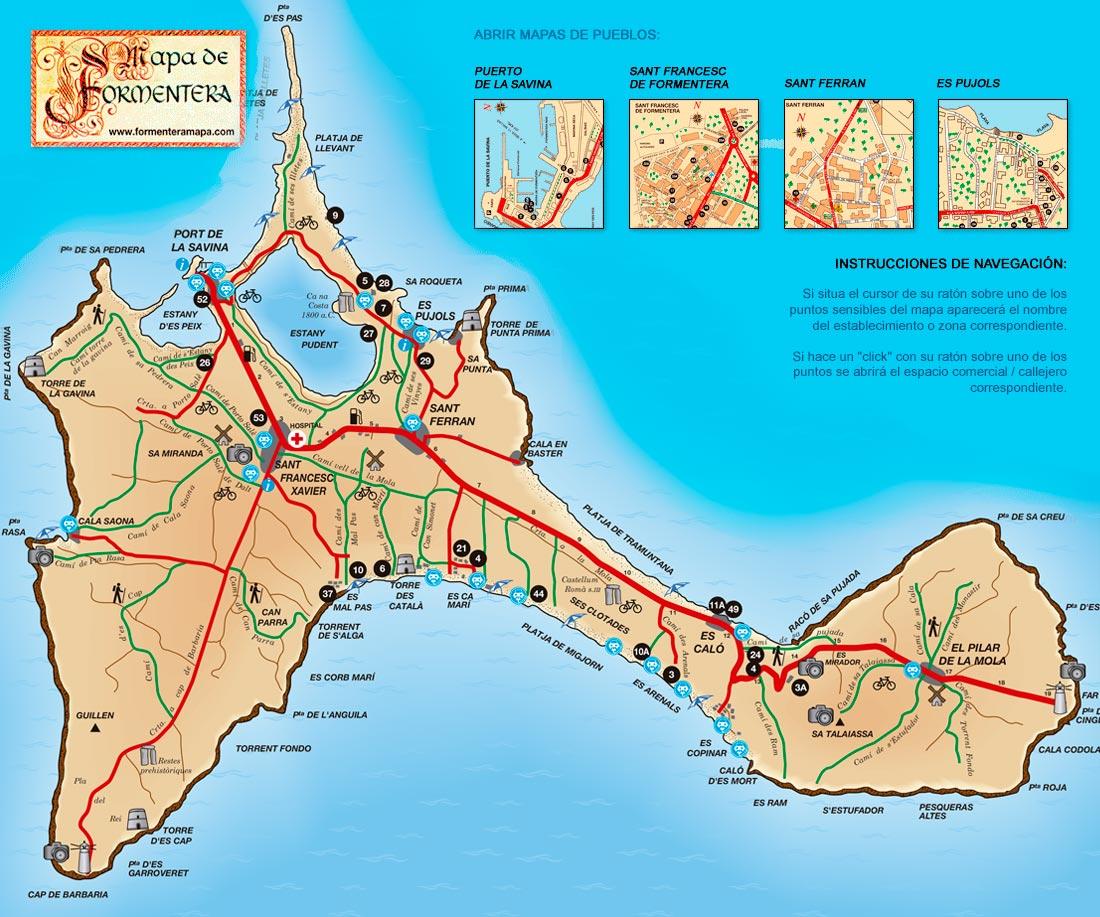 Formentera Ubicacion Clima Lugares Turisticos Playas