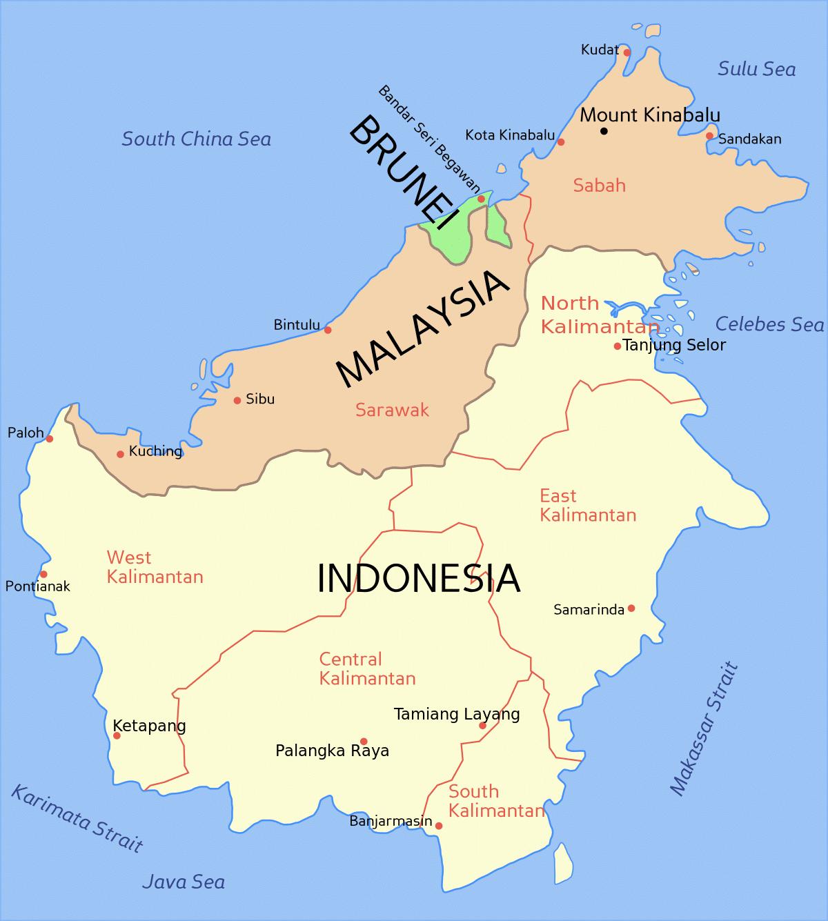 Isla De Borneo Ubicacion Mapa Turismo Fauna Y Mucho Mas