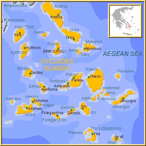 Islas griegas de Cícladas