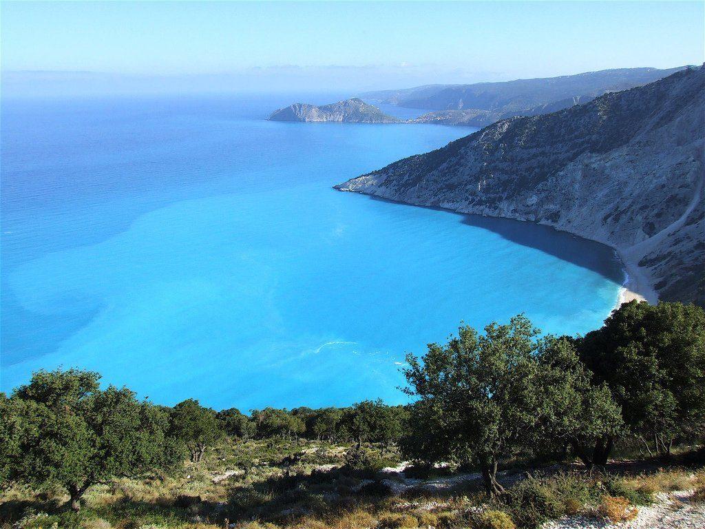 costas de la Isla griega de itaca