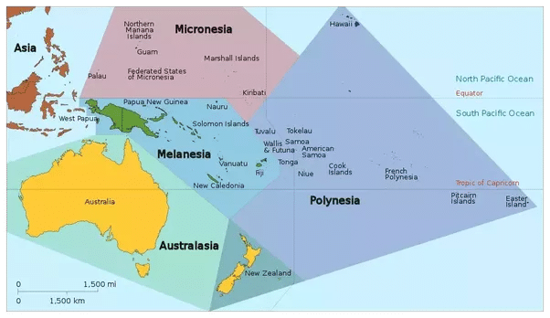 Oceania Historia Ubicacion Clima Turismo Bandera