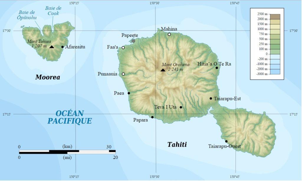 Mapa de Tahití H4