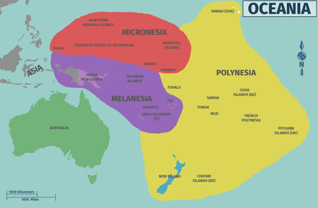 Islas Fiji Mapa Mundi