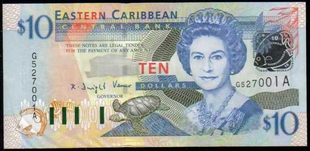 dolar del caribe oriental