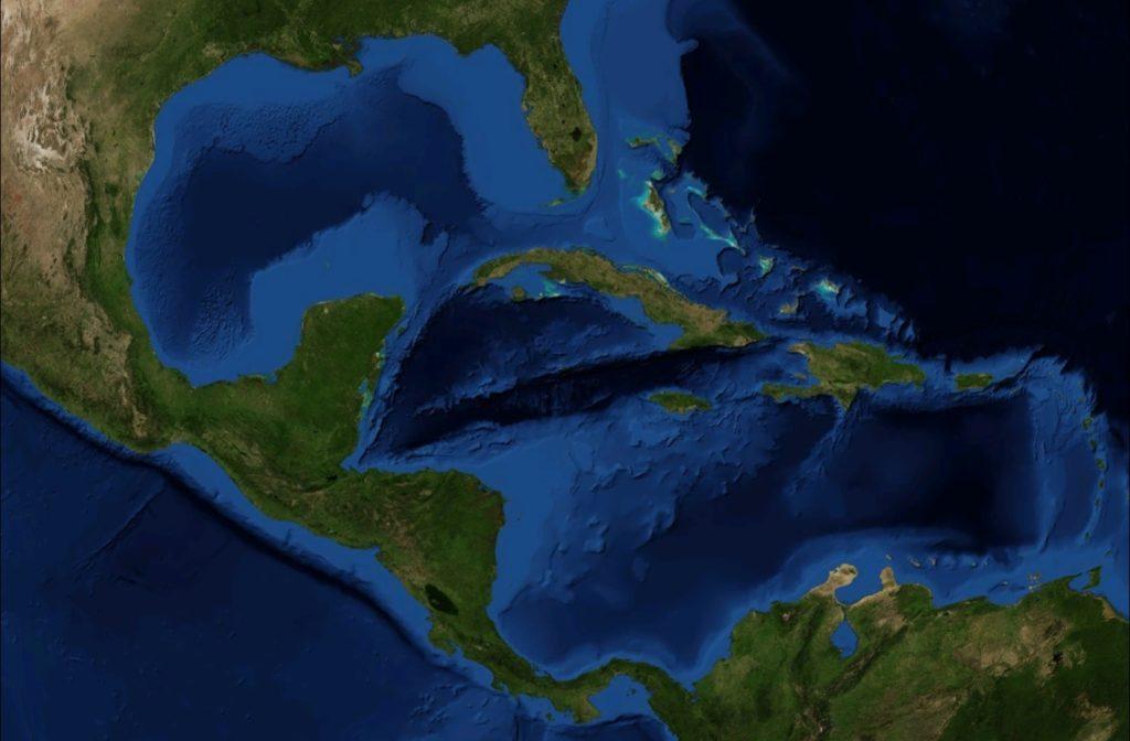 ubicacion de las Antillas mayores
