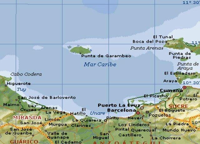 mapa de isla la tortuga venezuela