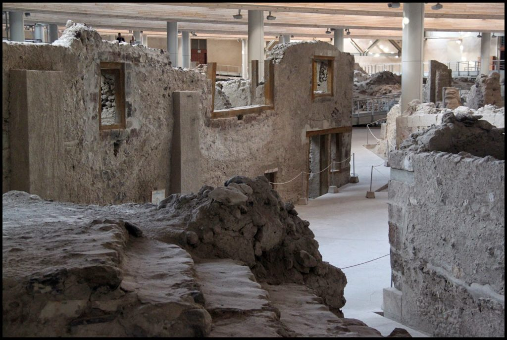 sitios arqueológicos de isla de santorini