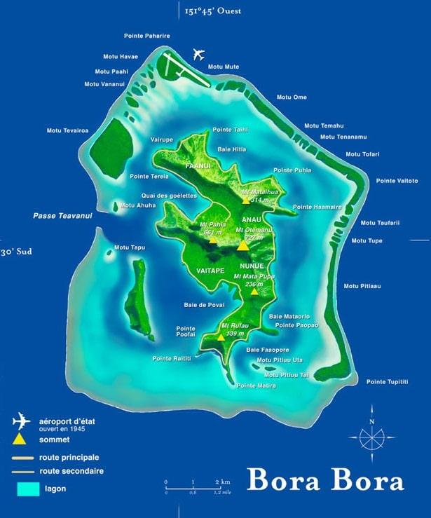 Mapa de Bora Bora H4