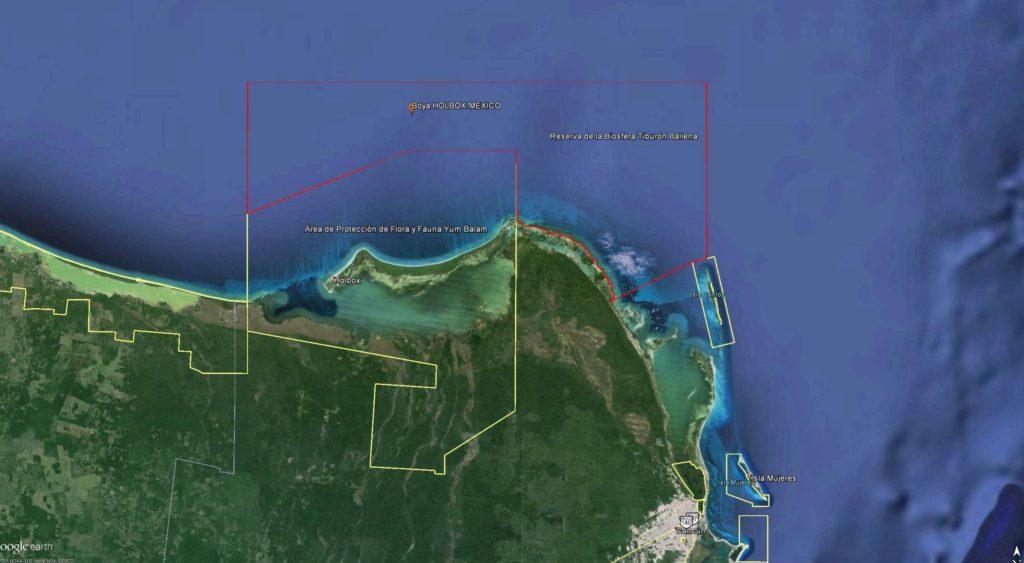 ubicación geográfica de holbox