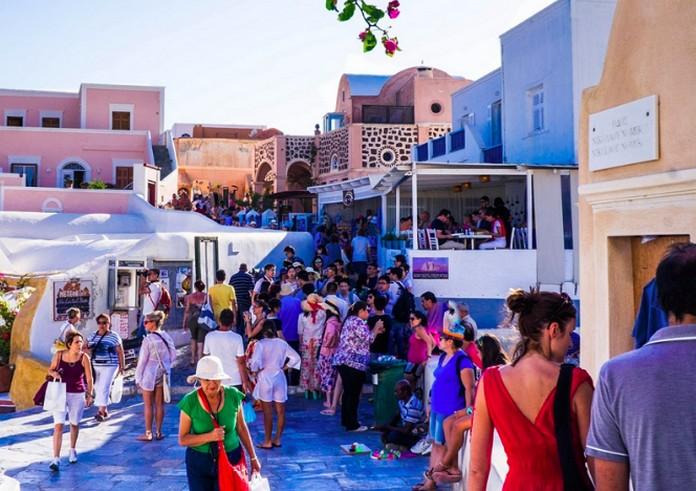 nivel de viajeros en las islas griegas