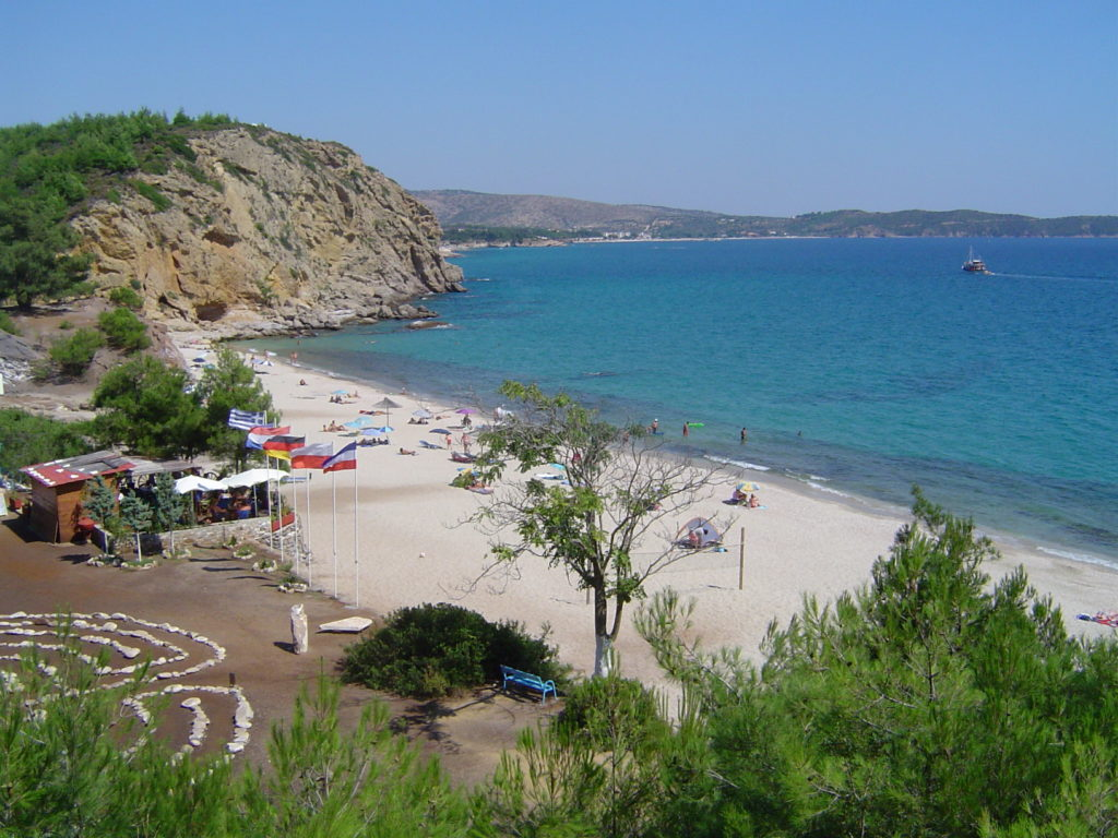 playa de la Isla de Thassos