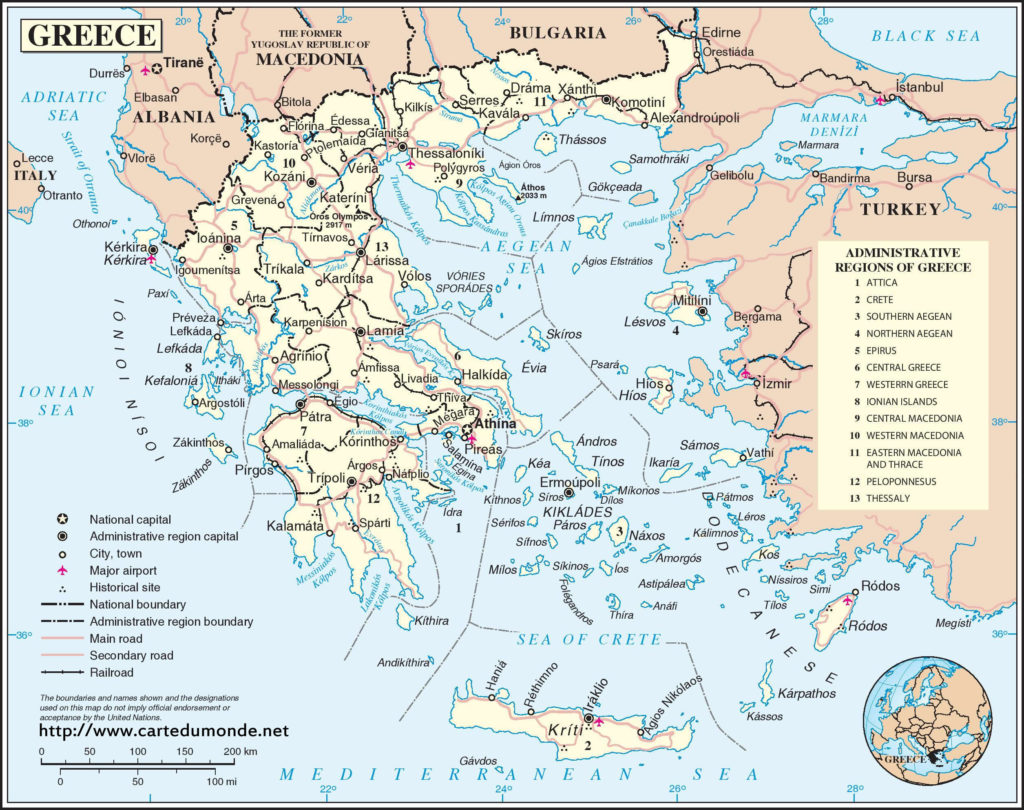 Mapa de las islas de grecia H4