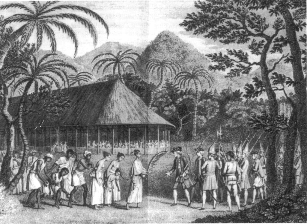 la llegada de james cook a tahiti