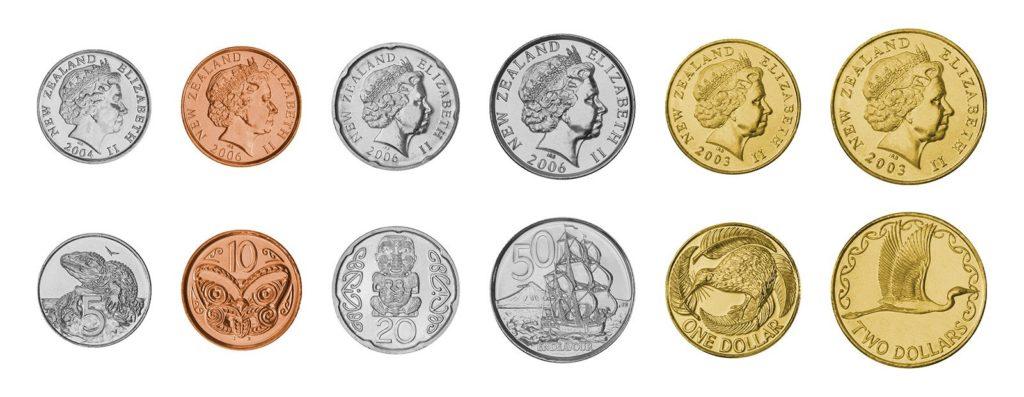 monedas de dolar neozelandes