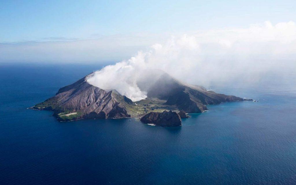 volcán de la isla blanca