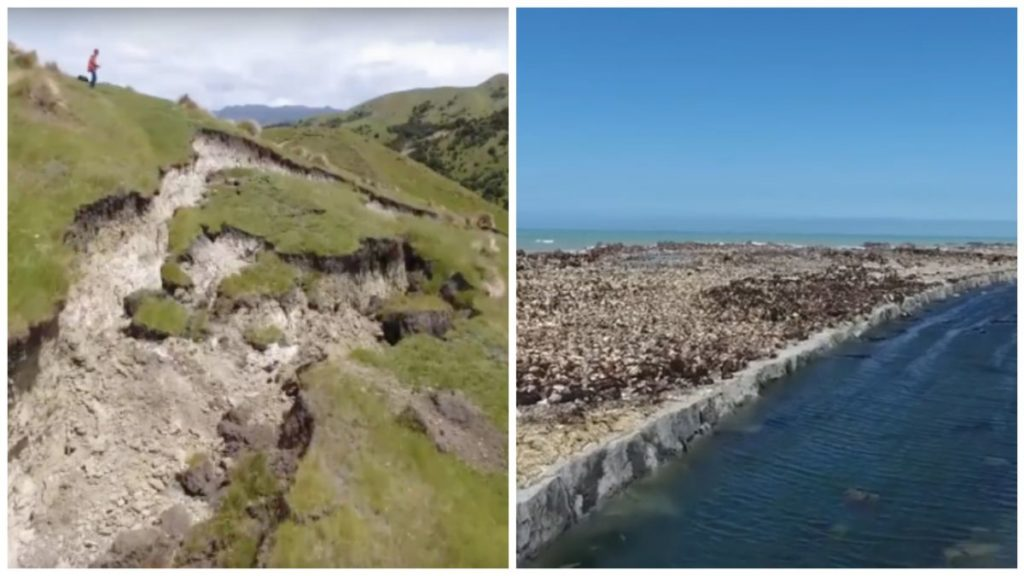 grietas provocadas por el terremoto de nueva zelanda