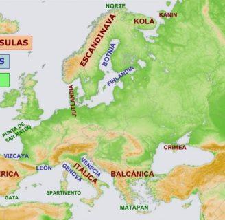 Conozca cuales son las principales Penínsulas de Europa y todo sobre ellas